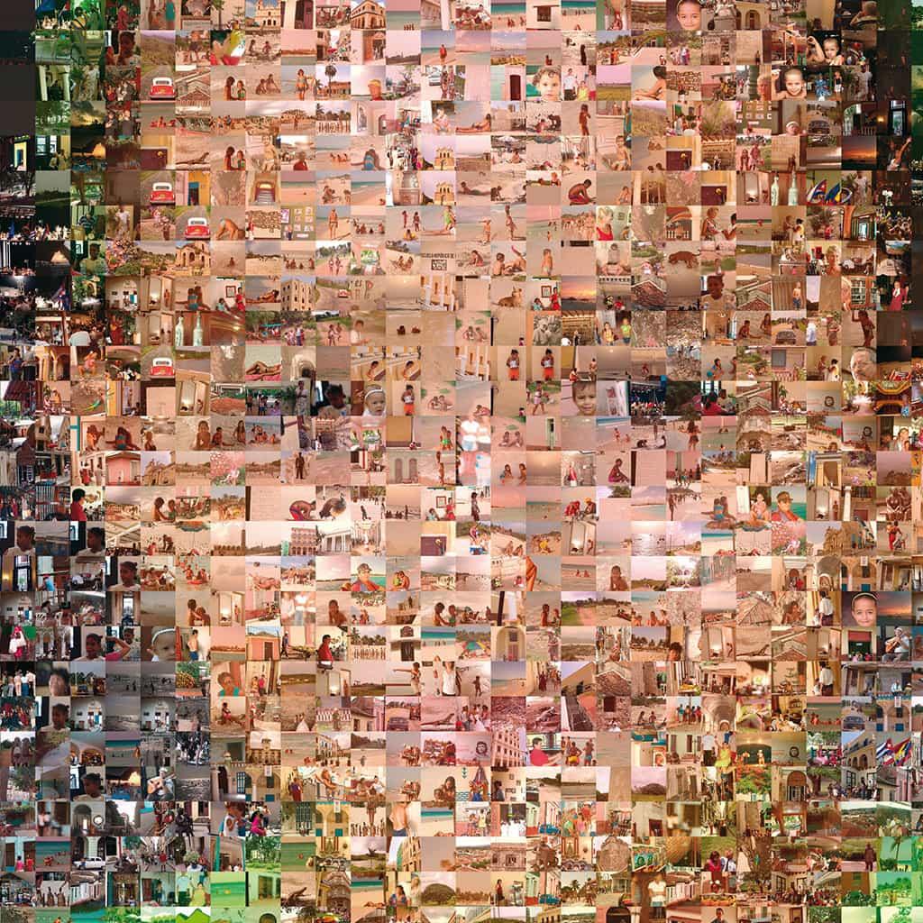 Fotomosaik upptill 2000 bilder